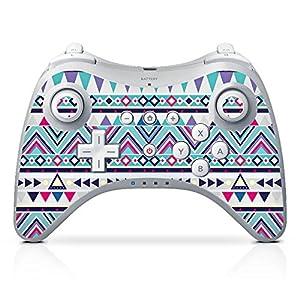 DeinDesign Skin Aufkleber Sticker Folie für Nintendo Wii U Pro Controller Pattern Muster Triangles