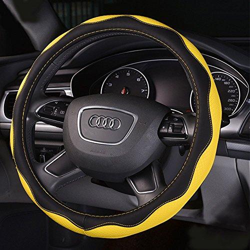 y-b-automotive-couvre-volant-en-cuir-avec-38-cm-381-cm-diametre-jaune-jaune