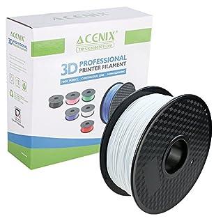ACENIX® Weiß PLA 3D Drucker Filament, 1kg Spul Filament 1,75 mm Dimensionsgenauigkeit +/- 0,03 mm 1KG [2,2 LBS] Spule 3D Filament für 3D Pens & 3D Drucker
