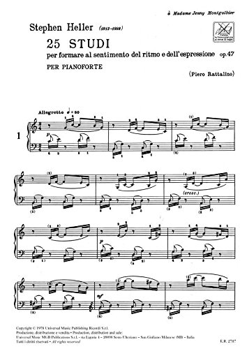 25 STUDI PER PIANOFORTE OP. 47