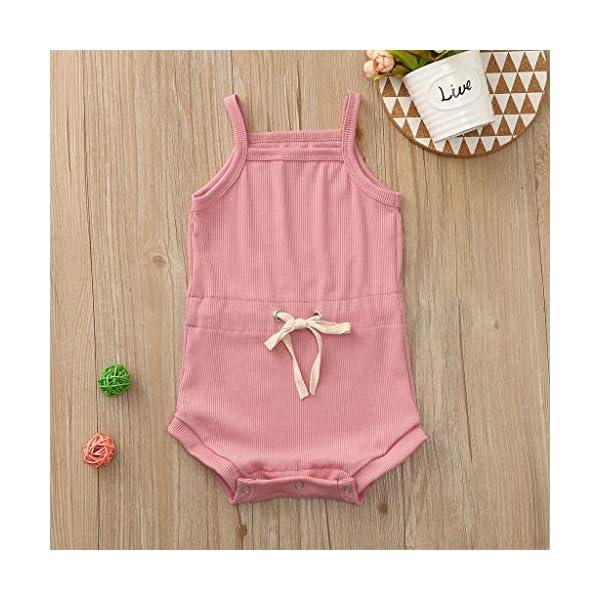 Pijama de bebé sin Mangas para niña, Pelele de bebé Elegante, Pelele de algodón de Pelele, Body de bebé Divertido, Body… 3