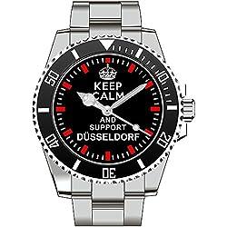 Keep calm and support DÜSSELDORF - Armbanduhr - Uhr 1565
