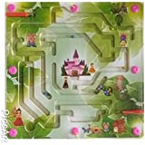 Grizzly Multicolor Wooden Puzzle Magnetic Maze Labyrinth Toy For Kids - Ages 3+Years (Forest Prince)