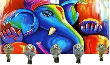 Go Hooked Digital Printed Wooden Designer Key Holder