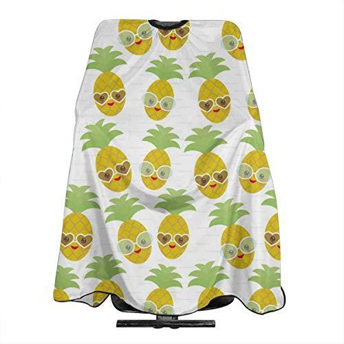 Kawaii Pineapple Face with Sunglasses Professionelle Friseursalon Polyester Haarschnitt Schürze 55
