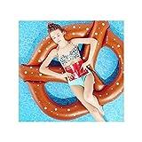 Sommer Lustiges Aufblasbares Brot Bagel Schwimmender Sitz Riesenschwimmen Pool Ring