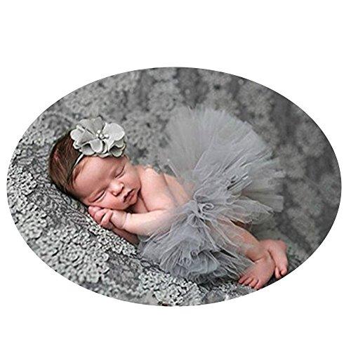 Newborn Baby Photography Props Girl Crochet Costume Outfits Tutu Skirt Headdress