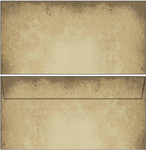 Briefumschläge Motiv altes Papier 50 Stück Kuverts DIN lang ohne Fenster 6602