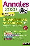 Annales Enseignement scientifique 1re ABC du BAC...