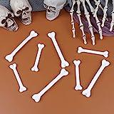 LOCOLO 24 Pcs Plastic Bone Halloween Fake Bone Human Skeleton Bones Costume Accessory for Halloween Prop Costume Themed Party