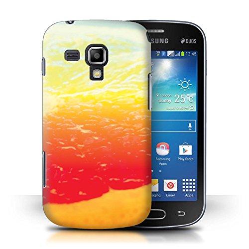 Grapefruit Duo (Stuff4® Hülle/Case für Samsung Galaxy S Duos/Grapefruit/Obst Muster/Lebendige Ombre Kollektion)