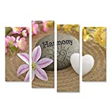 Bild Bilder auf Leinwand Zen-Stein der Harmonie im Sand Wandbild, Poster, Leinwandbild NFW