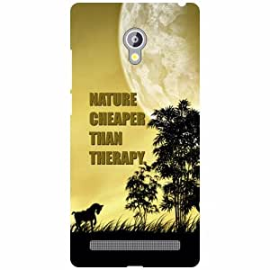 Asus Zenfone 6 A601CG Back Cover - Nature Cheaper Than Therapy Designer Cases