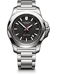 Victorinox Swiss Army Men's 241723.1 I.N.O.X. Watch with Black Dial and Stainless Steel Bracelet