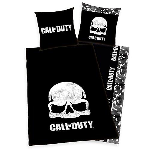 Call of Duty Wendebettwäsche Logo - Bettwäsche Bedruckt, aus 100% Baumwolle, (80 x 80/135x200cm), mit Reißverschluss - Single