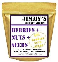 Jimmy's Gourmet Kitchen | Muesli Berry Nut Seed 40% | Buy 1kg get 1kg Free | Vegan Gluten Free Sugar Free