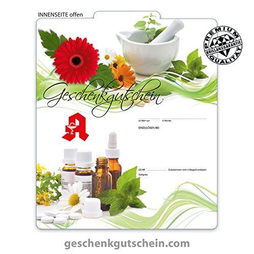 """25 Stk. Premium Faltgutscheine """"Multicolor"""" für deutsche Apotheken AP236, LIEFERZEIT 2 bis 4 Werktage !"""