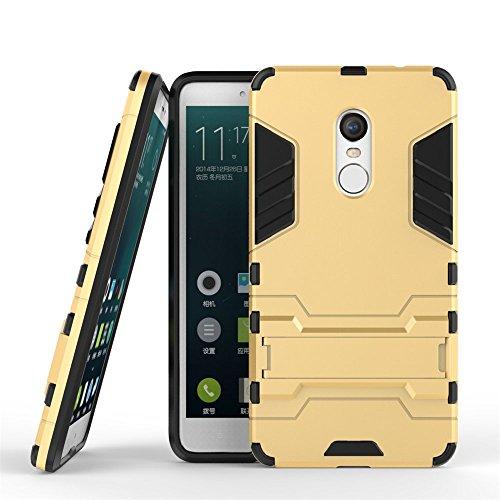 Qiaogle Telefon Case - Shockproof TPU + PC Hybrid Ständer Schutzhülle Case für Apple iPhone 5 / 5G / 5S / 5SE (4.0 Zoll) - HK01 / Hellblau HK03 / Golden