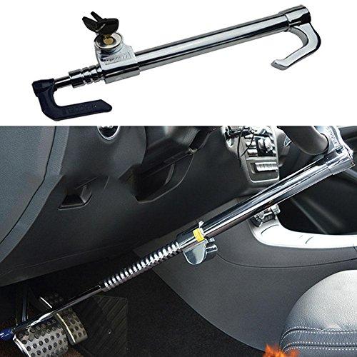 NACHEN Auto-Lenkrad-Verschluss-Kupplungsdrossel-Antidiebstahl-Lenkstangen-Verschluss, silver