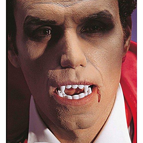 ebiss Dracula Falsche Zähne Vampir Halloween Gebiss Beißer Draculazähne (Plastik-vampir-zähne)