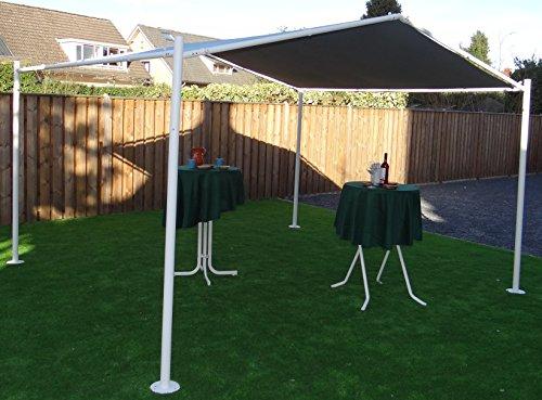 Pabellón | Color arena | 400 x 350 cm | SORARA | Poliéster de 250 g/m² (UV 50+)| para jardín, patio, exterior