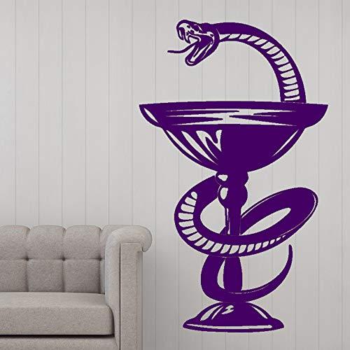 xingbuxin Glas Schlange Wandkunst Aufkleber Wandaufkleber DIY Home Decalation Zubehör Vinyl wasserdichte Wandaufkleber Für Wohnzimmer 5 XL 58 cm X 96 cm