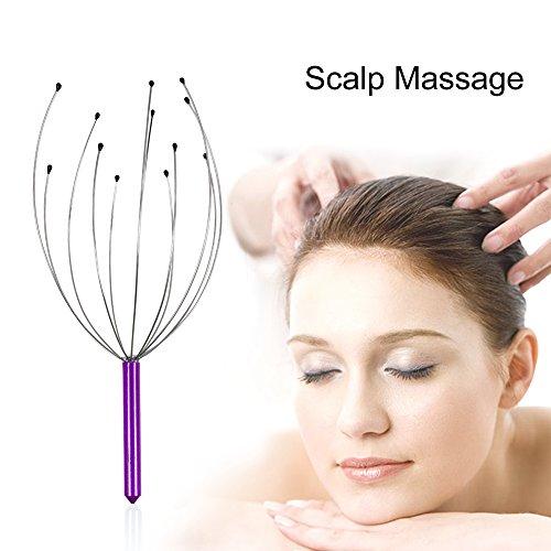 prochive Praktische angenehm Kopf Hals Kopfhaut Massagegerät Handheld Massagegerät Entspannung für Stress Relief und tiefe Entspannung Werkzeug zufällige Farbe (Stress Relief Kopfhaut Massagegerät)