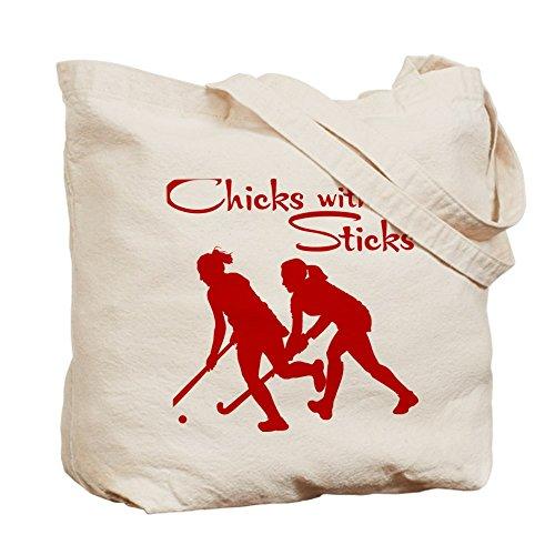 CafePress–Field Hockey (beide Seiten)–Leinwand Natur Tasche, Reinigungstuch Einkaufstasche, canvas, khaki, M Hockey Tasche