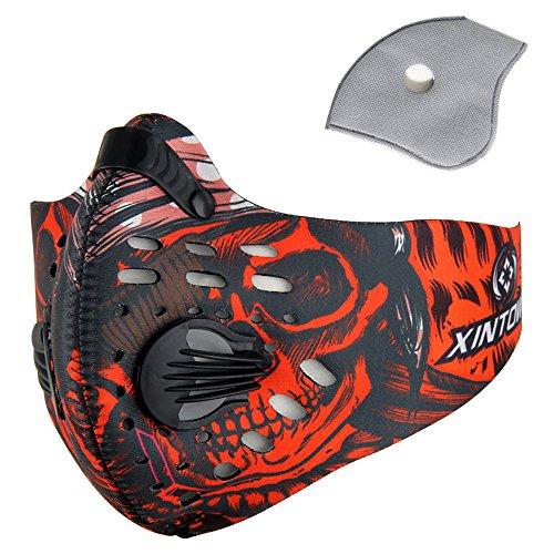 Pioneeryao Máscara Antipolución Máscara Ciclismo