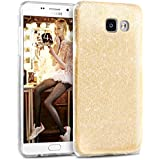 Coque Samsung A3 2016, TheBlingZ.® housse étui de protection [Hybrid Case] Etui de couverture Bling Bling avec brillants en TPU - Or