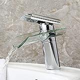 Yiwa Wasserhahn für Waschbecken, einfache Einhebelmischung, für warme und kalte Wasserfall, Wasserhahn