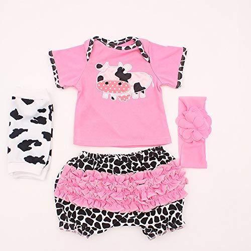TERABITHIA 17 Ajustan a 50-55 muñecas recién Nacidas Vestido Reborn Baby Doll Toda la Ropa de algodón