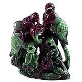 Neer upam Collection 430Cts Rouge Couleur Laboratoire EN166naturelle Inde Rubis 63x 50x 23mm Taille schnitzen Oiseaux Idol