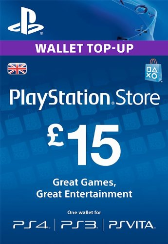 Compare PlayStation PSN Card 15 GBP Wallet Top Up | PSN Download Code - UK account prices