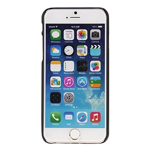 Phone case & Hülle Für IPhone 6 / 6s, Sanduhr-Stunden-Handmuster PC-Rahmen-Palisander-hölzerner Fall ( SKU : S-IP6G-0903G ) S-IP6G-0903A