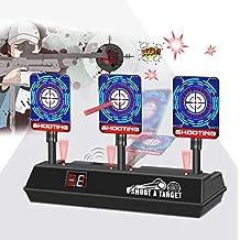 Zielscheibe für Nerf, Auto Reset Elektro-Schießscheiben,2019 Neue Elektrische Punktzahl Ziel, Automatische Wiederherstellung Zubehör für Nerf Soft Bullet Gun Spielzeug with Soundeffekte und Spiellicht
