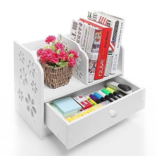 usschnitt Regal Desktop Lagerung Organizer Regal Rack mit einer Schublade für Home Küche Bad Schlafzimmer Büro ()