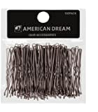 American Dream Wavy Bobby Pins, Brown 2-inch/ 5 cm - Pack of 100