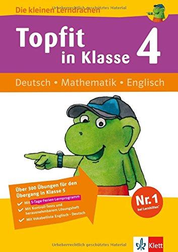 Download Die kleinen Lerndrachen: Topfit in Klasse 4. Deutsch - Mathematik - Englisch