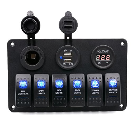 Auto pannello interruttori automatici - Kingwo 6 Gang impermeabile Auto Car marina del crogiolo LED Interruttore a bilanciere pannello interruttori automatici