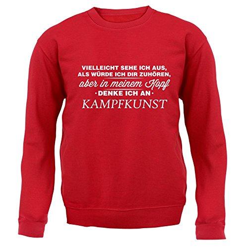 Vielleicht sehe ich aus als würde ich dir zuhören aber in meinem Kopf denke ich an Kampfkunst - Unisex Pullover/Sweatshirt - Rot - L