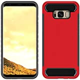 Case Compatible With Samsung Galaxy S8 Plus, Codream Back Shell [Scratch Resistant/Perfect Fit] Samsung Galaxy S8 Plus Case Cover Protective Skin Shell Holster (Red)