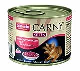 Animonda Carny Kitten Rind plus Putenherzen 200 g - Katzenfutter, 6er Pack (6 x 200 g)