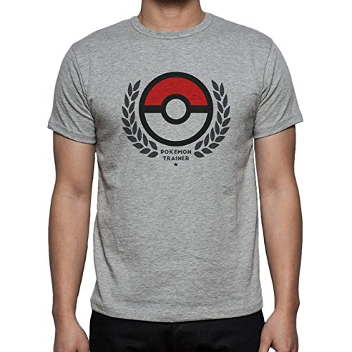 Pokemon Trainer Ball With The Best Application Herren T-Shirt Grau