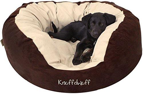 Knuffelwuff 12664 Hundebett Dooly - Größe L, 80 x 75 cm sehr weich gepolstert