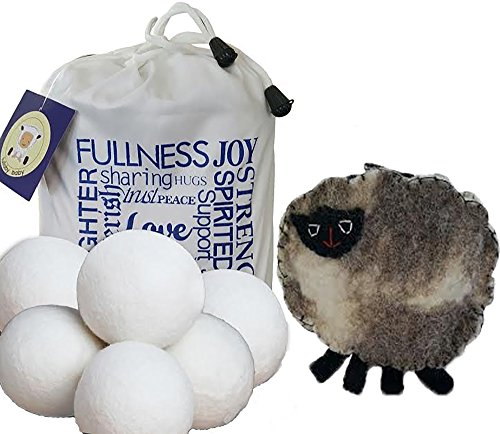 Wool Dryer Balls 6-pack XL Handmade  Premium