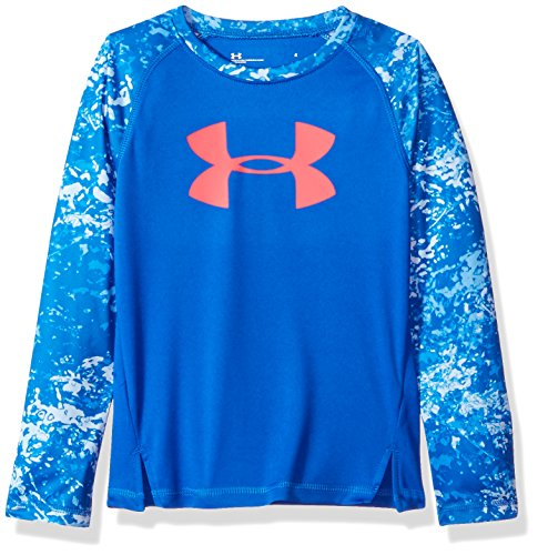Under Armour Mädchen Range Camo Big Logo Raglan T-Shirt - blau - 2 Jahre (Camo Under Kinder Armour)