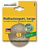 Schellenberg 44501 Rollladengurt 14 mm/4.5m, beige