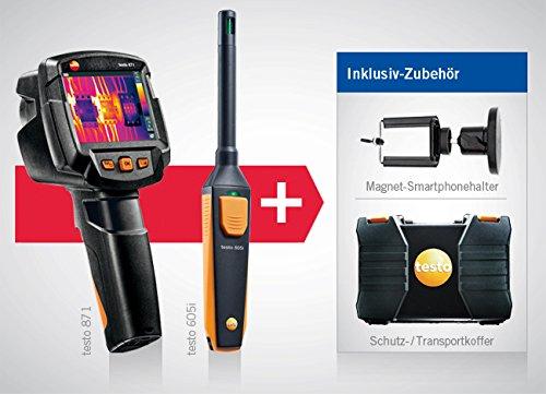 térmica de cámara Testo 871y Testo 605i–Higrómetro y térmica de Juego de cámara, incluye maletín y kleinsc hmidt GmbH magnético de soporte para smartphone