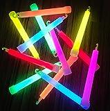 molinorc | 25X Power Mutila Bulk | 150x 15mm Varillas de grasa y bombilla claro | 6colores ojete | Mutila Barras luminosas | pulseras Glow Stick | Party luces Neon | Rojo Amarillo Verde Rosa Naranja Azul